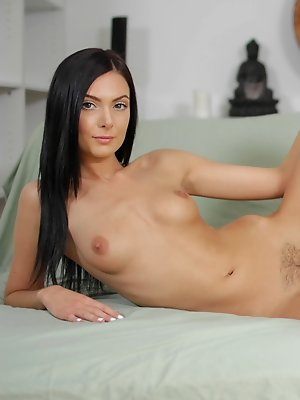 Marley toys her pussy and then fucks the real thing